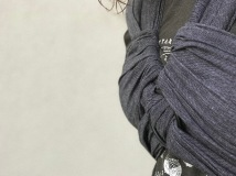 Close up of a Strangleproof ruck finish using a grey Meh Dai straps